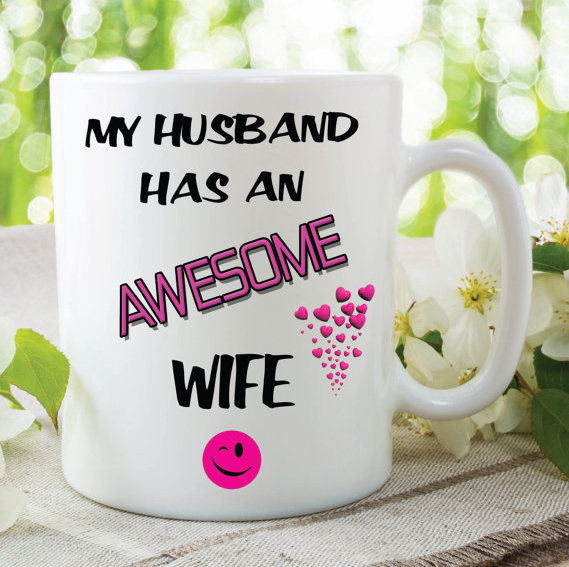 My Husband Has An Awesome Wife Mug Novelty Christmas Gifts Birthday Gift