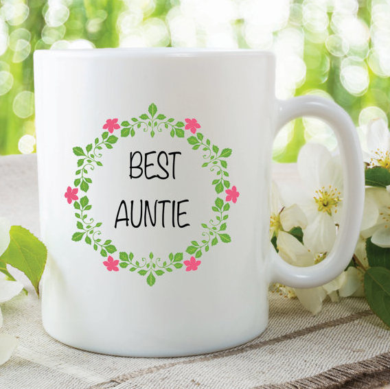Best Auntie Mug Flowers Birthday Gift Mothers Day Christmas Gifts Friend