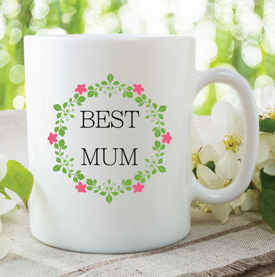Best Mum Mug Flowers Birthday Gift Mothers Day By MySticky On Zibbet