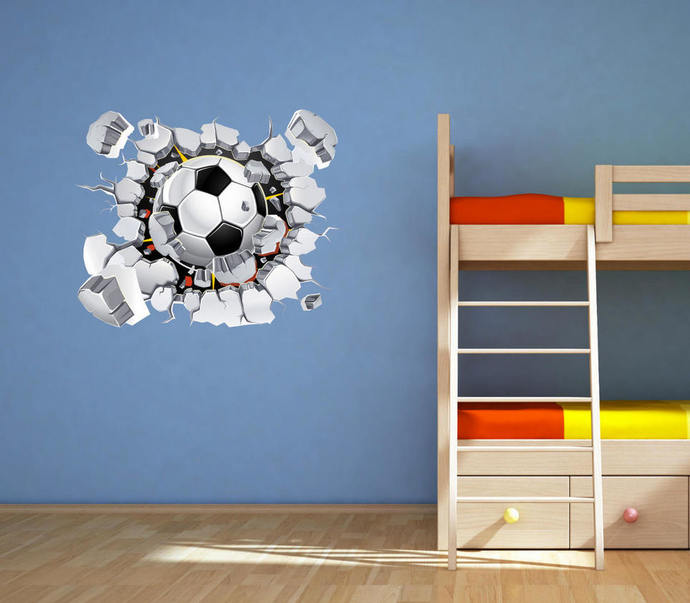 Football Wall Decal Soccer Wall Art Sticker Mural Decal Graphic Boys Bedroom