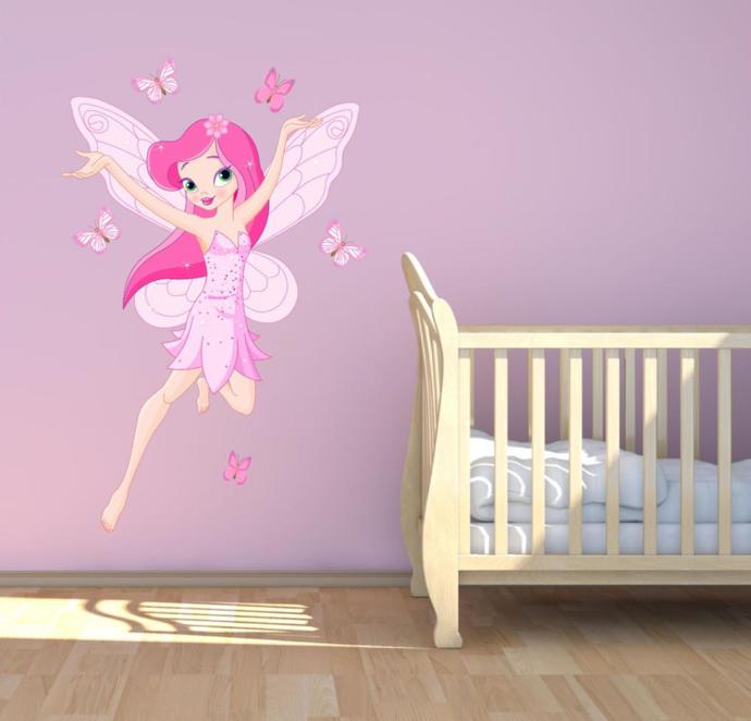 Merveilleux Fairy Tale Pink Fairy Wall Sticker Decal Mural Transfer Girls Bedroom  Nursery