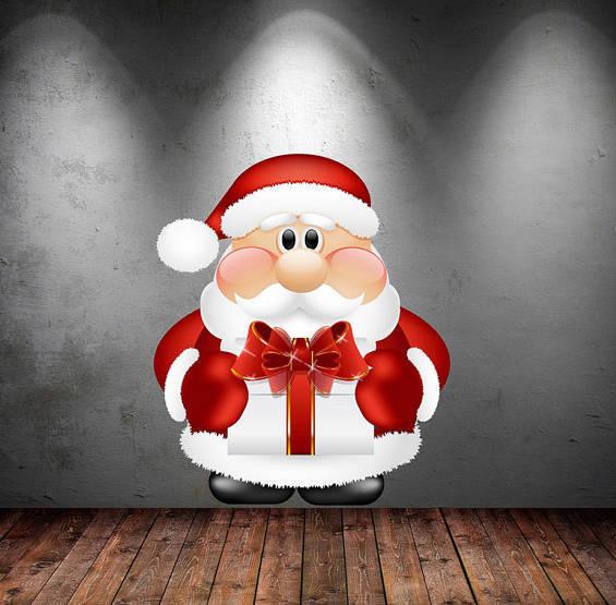 Santa Claus Father Christmas Wall Art Sticker by MySticky on Zibbet