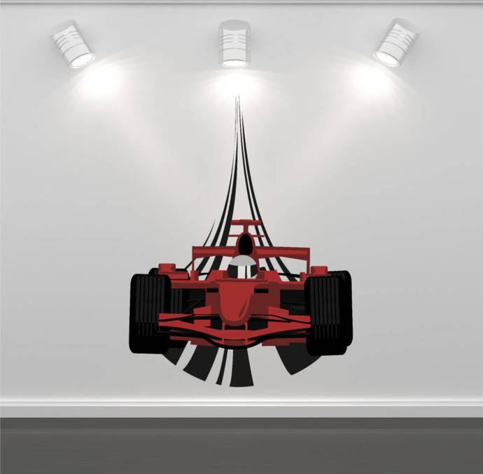 Wall Decal F1 Racing Car Wall Art Sticker Decal by MySticky on Zibbet