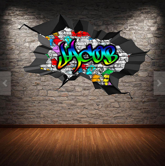 Personalised Custom Graffiti Name Wall Art By MySticky On Zibbet - Graffiti custom vinyl stickers