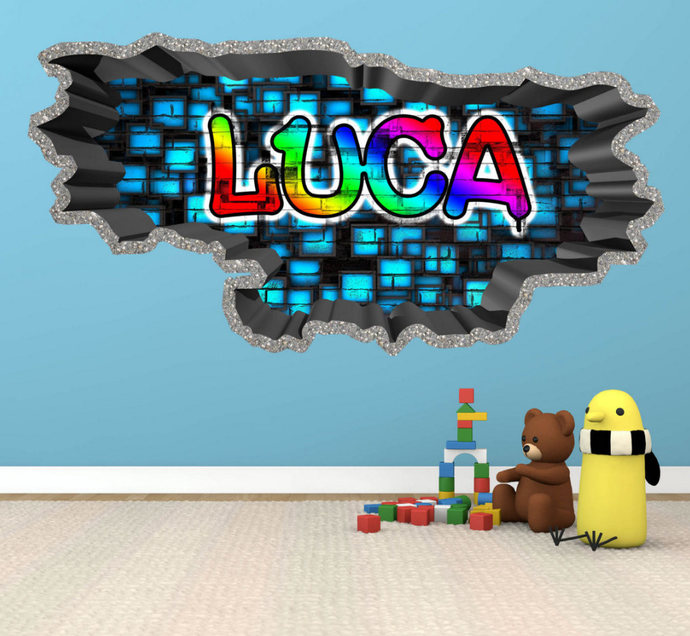 Personalised Custom Graffiti Name Wall Art by MySticky on Zibbet