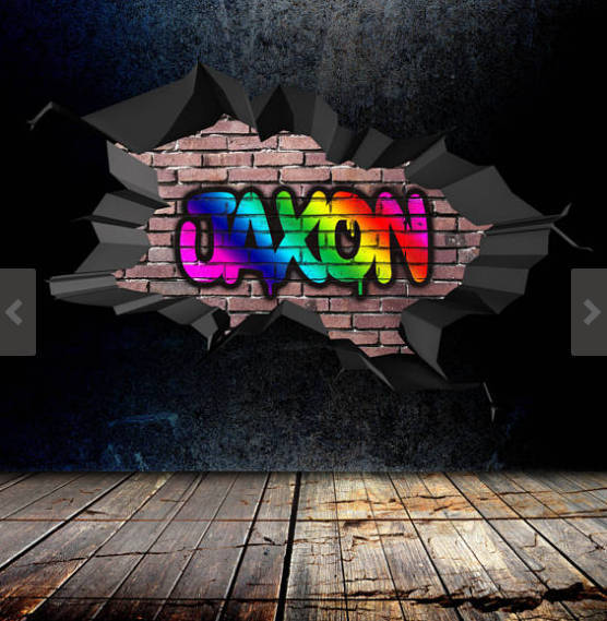 Personalised Custom Graffiti Name Wall Art By MySticky On Zibbet - Custom vinyl wall decals graffiti