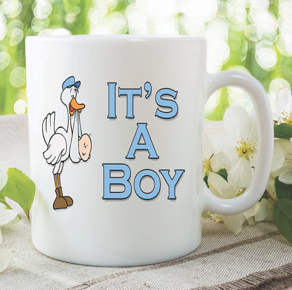 baby shower mugs baby surprise announcement gift by mysticky on zibbet