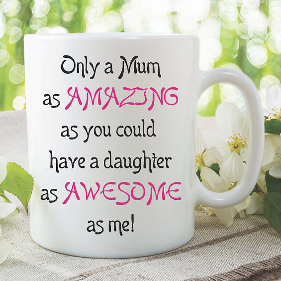 Mum Mugs Amazing Awesome Daughter Gift For By MySticky On Zibbet