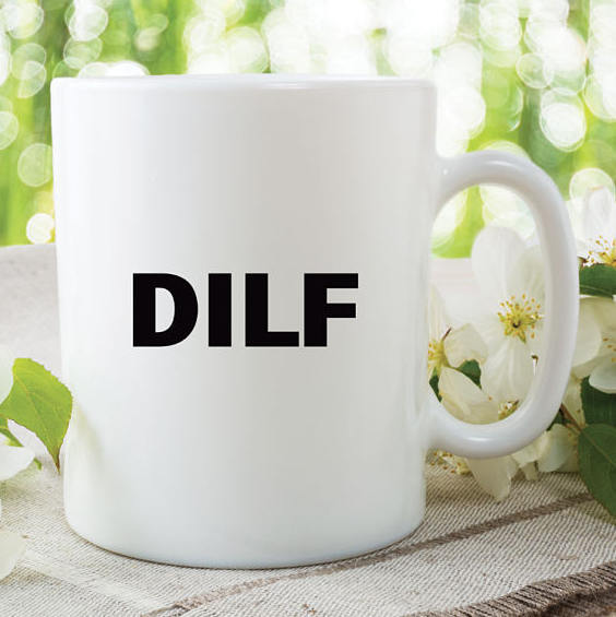 Funny Coffee Mugs DILF New Dad Gift Baby Shower Friend Husband Boyfriend Novelty
