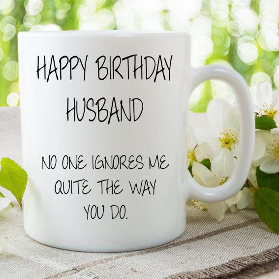 Happy Birthday Husband Mug Cup Husband Gift Coffee Mug Gift For Husband Birthday & Happy Birthday Husband Mug Cup Husband Gift by MySticky on Zibbet