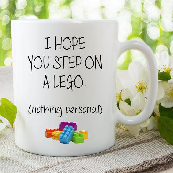 Funny Novelty Mugs I Hope You Step On A Lego Humour Joke Friend Girlfriend