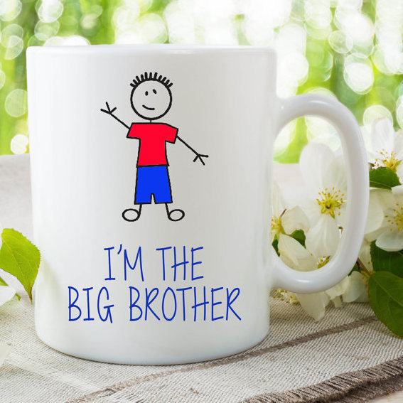 I'm The Big Brother Mug Gift For Son Surprise Baby Announcement Gift Birthday