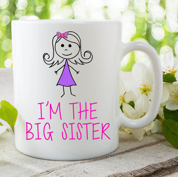 Im The Big Sister Mug Gift For Daughter Surprise Baby Announcement