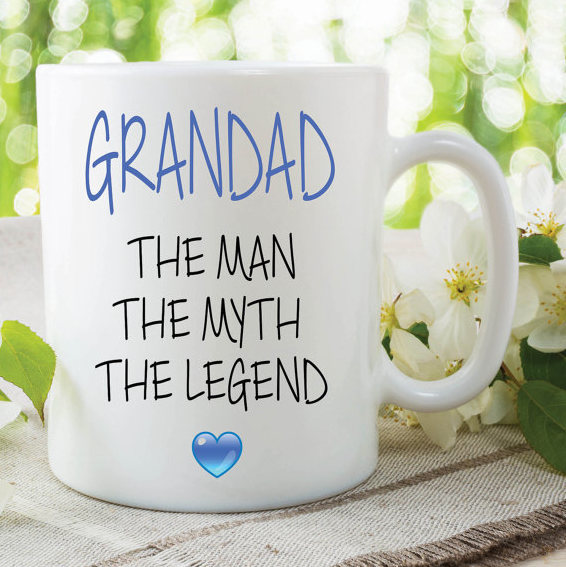 Grandad Mug The Woman The Myth The Legend Gift For Grandad Birthday Gift