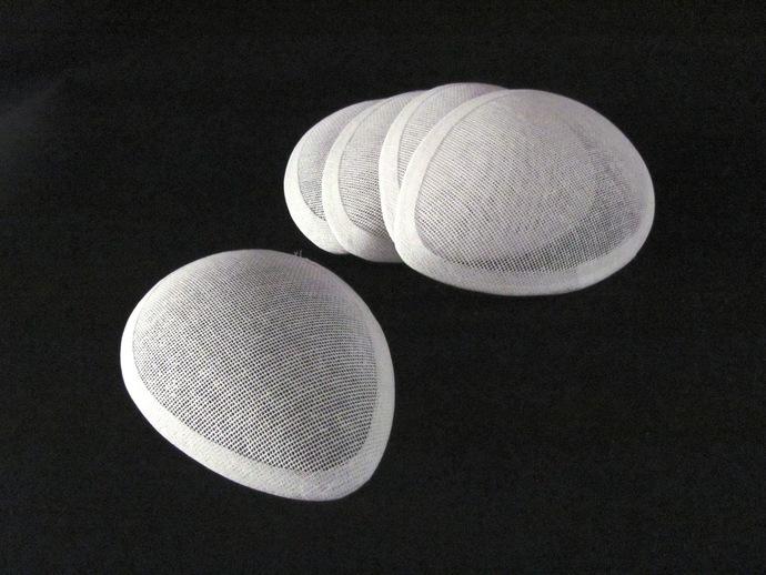 5 Tiny Tear Drop Buckram Hat Frames Millinery Hat Foundation