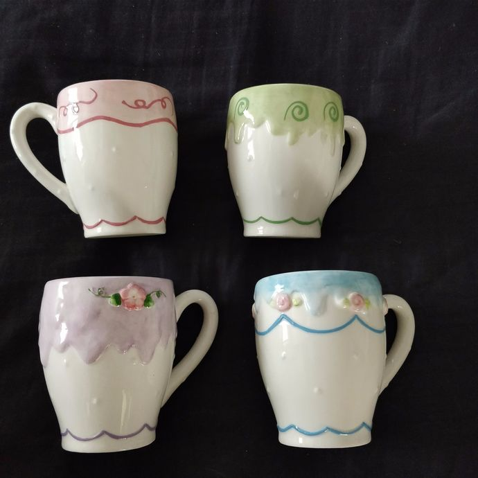 Avon Collectibles President's Club Four sets of cups and saucers