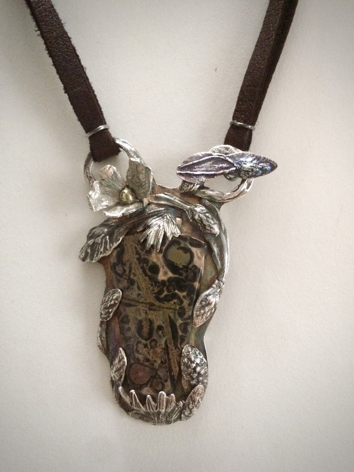 Horse necklace, leopard jasper jewelry, horse lover gift, gift for her, cowgirl