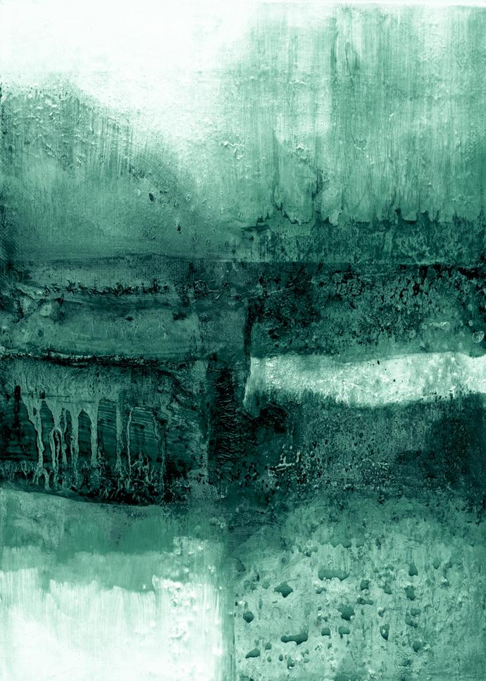 Abstract Art Printable, Wall Art Print, Living room Art, Green Abstract Art,