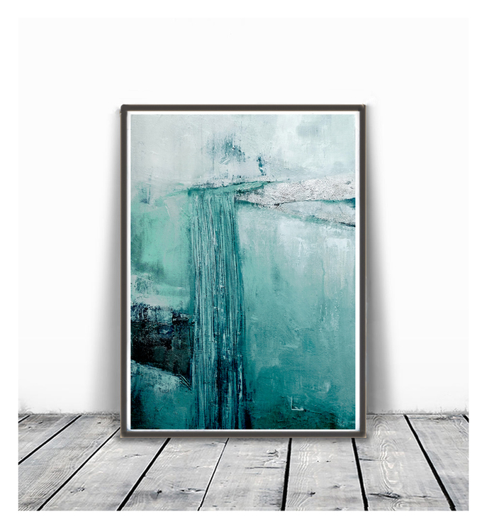 Printable Art, Art Poster, Digital Download, Wall Decor,turquoise and white,