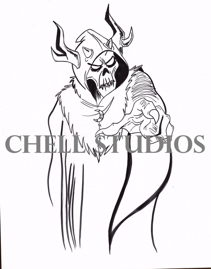 HORNED KING FROM THE BLACK CAULDRON INKTOBER 2017