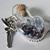 Mini HEART Bottle-FAIRY MAGIC---Silver Fairy Sprinkles--Ball Chain --Pewter