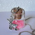 MINI PINK Fairy Tinsel Dust--BABY Girl--Silver Toned Ball Chain--Adorable GIFT