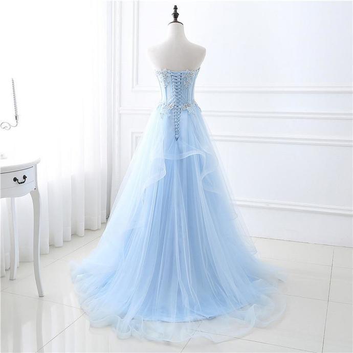 Light Sky A-Line Elegant 2018 Prom Dresses,Prom Dresses,Formal Women Dress,prom