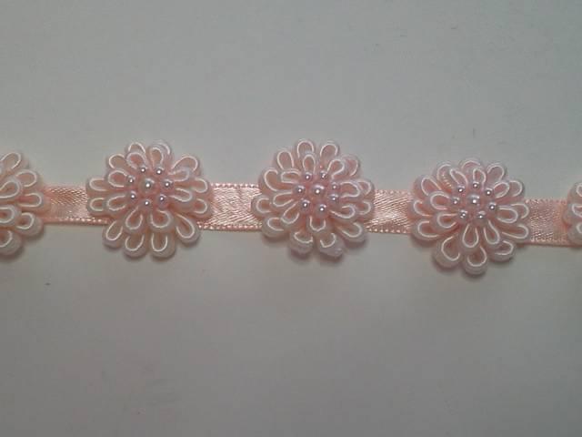 Peach 3D Flower Trim*