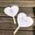 100 Personalized Heart Shaped Paddle Wedding Program Fans / Favors/ Shower /