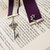 Ribbon and Lace Bookmark with Silver Key Charm