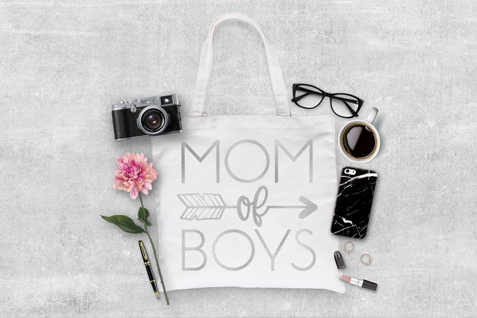 Mom of Boys Custom made tote bag, tote for mom, gift ideas for mom, mom bags