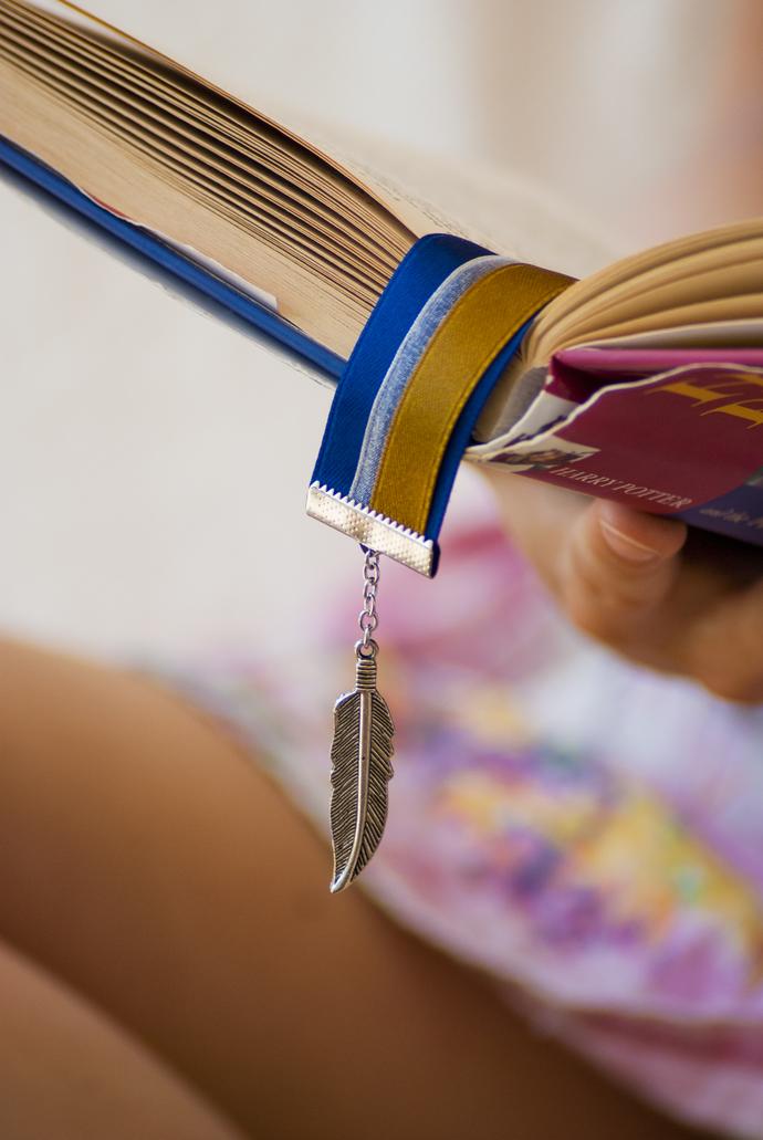 Harry Potter Ribbon Bookmark - Hogwarts House Ravenclaw