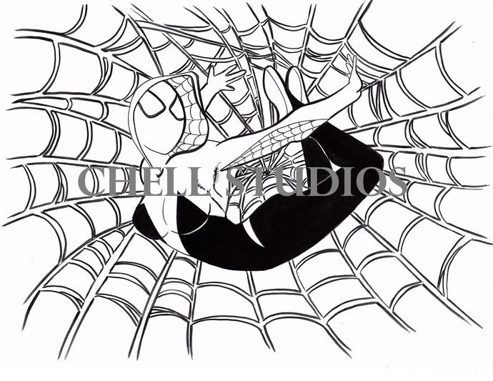 SPIDER GWEN INKTOBER 2016
