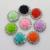 5 Shabby Rose Button  - 21 mm Flatback