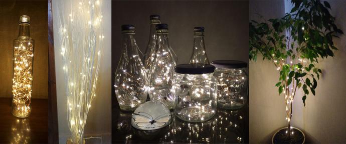 Waterproof copper LED string lights