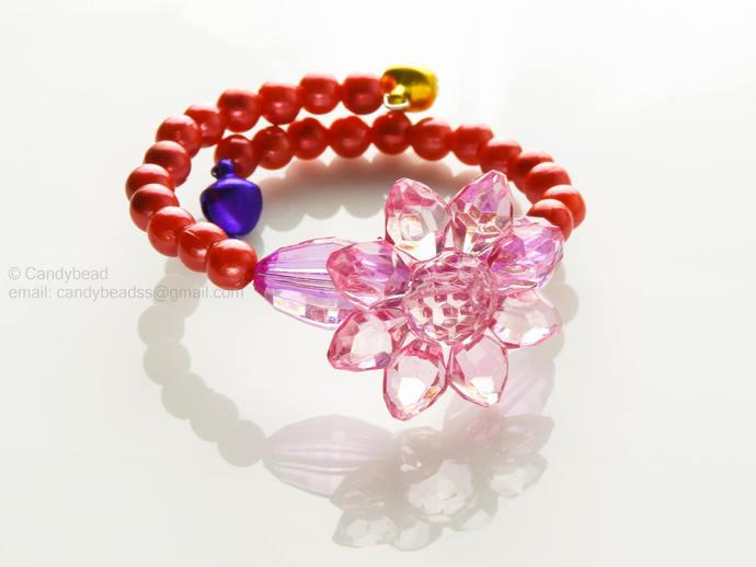 Memory wire bracelet, beads bracelet, boho bracelet, gift for friends, beaded