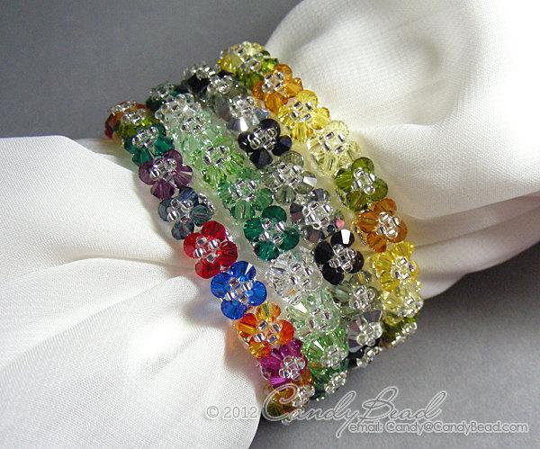 Swarovski Bracelet; Crystal Bracelet; Glass Bracelet; Autumn Shade Swarovski