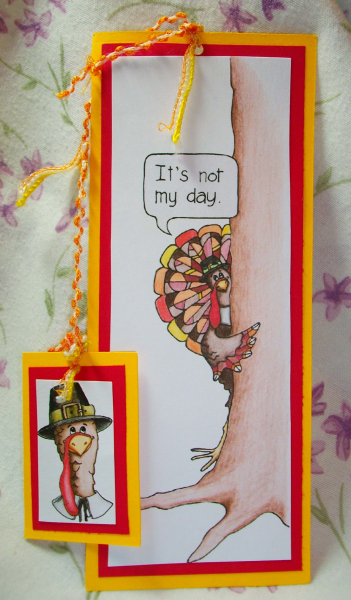 Thanksgiving Turkey Bookmark