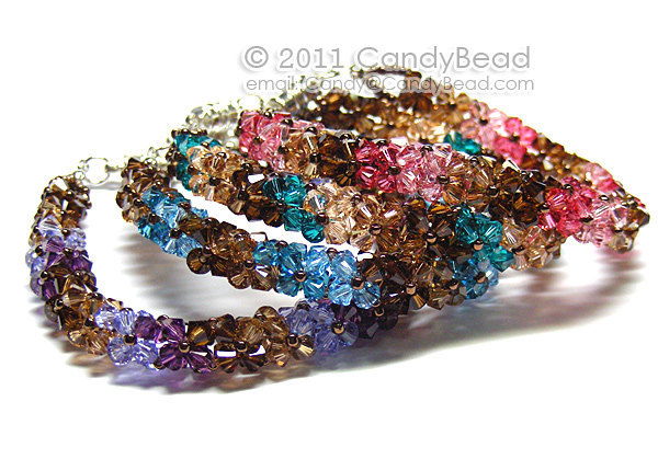 Swarovski Bracelet; Crystal Bracelet; Glass Bracelet; Luxurious Coco Sweet Blue