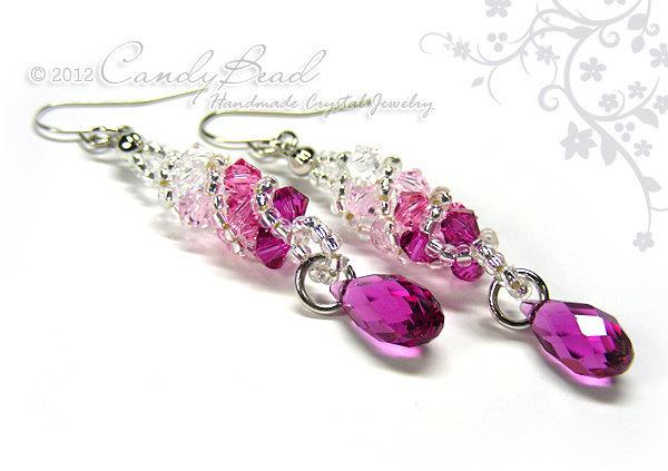 Swarovski earrings;crystal earrings;Roseberry Twisty Swarovski Crystal by