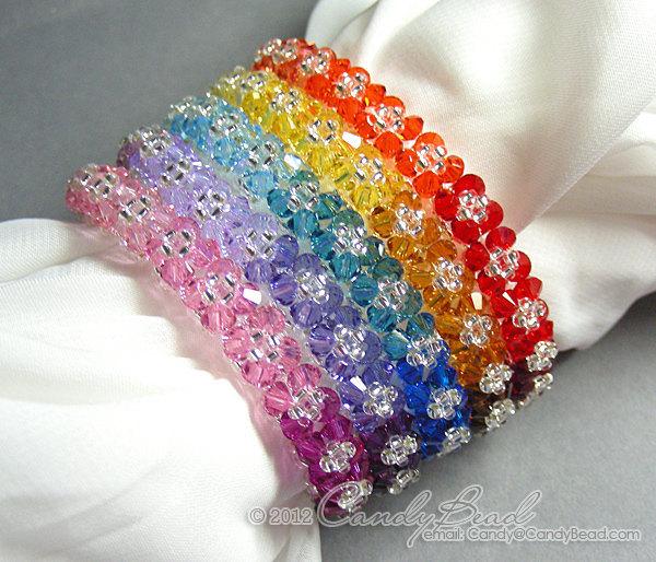 Rainbow bracelet; crystal bracelet; Swarovski bracelet; Glass bracelet;Rainbow