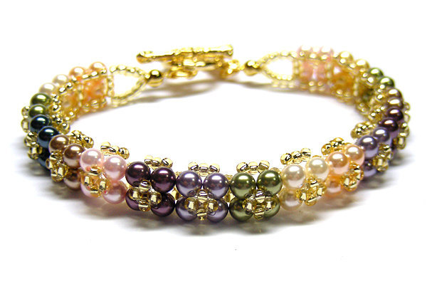 Swarovski Bracelet; Crystal Bracelet; Glass Bracelet; Colorful Flora Swarovski