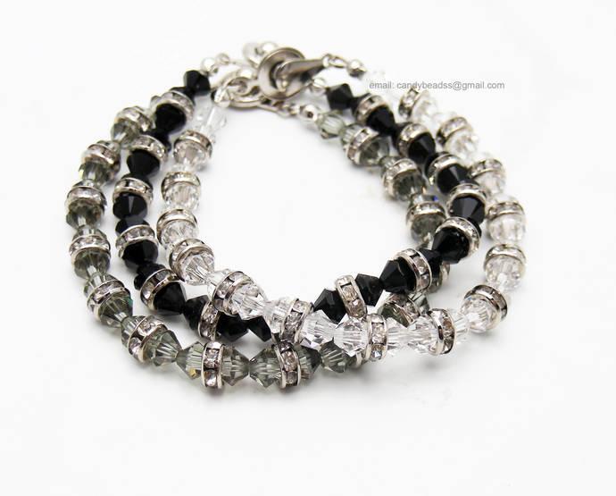 Crystal bracelet;Beaded bracelet; Swarovski bracelet;Friendship