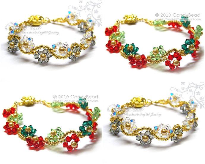 Swarovski Bracelet  Crystal Bracelet  Glass Bracelet  Flower Bracelet 1a2061233ed5