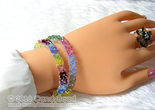 Swarovski Bracelet; Crystal Bracelet; Glass Bracelet; Sparkling Sunshine