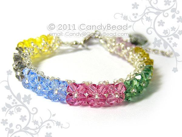 Crystal Bracelet; Swarovski Bracelet; Glass Bracelet; Sparkling Swarovski