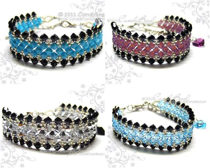 Crystal Bracelet; Swarovski Bracelet; Glass Bracelet; Various Color crystal