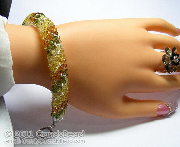 Crystal Bracelet; Swarovski Bracelet; Glass Bracelet; Autumn Colors Swarovski