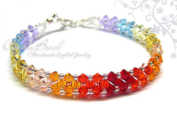 Crystal Bracelet; Swarovski Bracelet; Glass Bracelet; Swarovski Crystal Colorful