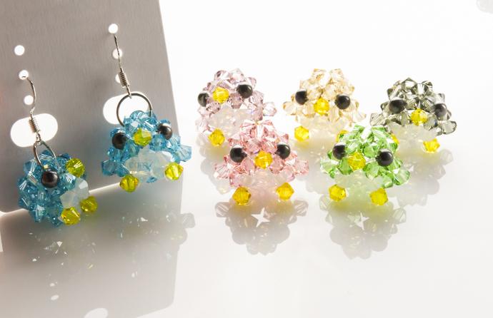 9cc9f8cae Swarovski earrings;crystal earrings; Little Penguin Crystal Earrings,  silver 925